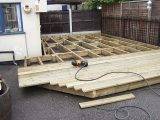 Image showing decking work being carried out