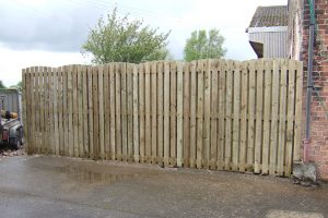 Image showing tall garden fence