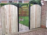 Image showing garden fence