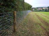 Image showing a livestock fence
