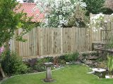 Image showing a garden fence